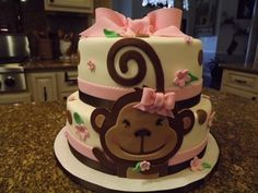 Monkey birthday cake By ginger_75833 on CakeCentral.com