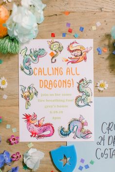 boy birthday parties I'm burning with delight over this Colorful Dragon Birthday Party submitted by Jacquelyn Kazas of Beijos Events!From the gorgeous and colorful kid table to Kids Birthday Party Invitations, Birthday Party Themes, Boy Birthday, Birthday Ideas, Dragon Birthday Parties, Dragon Party, Fete Laurent, Unicorn Party, Bunt
