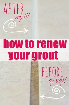 How to Renew Grout... even if it's totally disgusto!!! Poly blend grout renew from Home Depot.