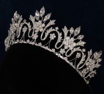 Regal 2 Tall Marquise Rhinestone Wedding and Quinceanera Tiara - Affordable Elegance Bridal - Rhinestone Wedding, Silver Rhinestone, Quinceanera Tiaras, Peach Gown, Bridal Veils And Headpieces, Royal Jewelry, Circlet, Tiaras And Crowns, Bridal Accessories