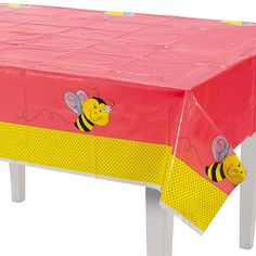 Bee Party Table Cover - OrientalTrading.com