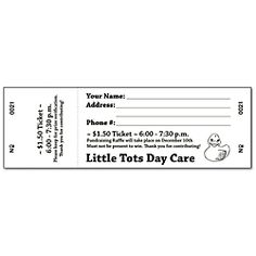 free printable raffle tickets   Free Printable Raffle Ticket ...