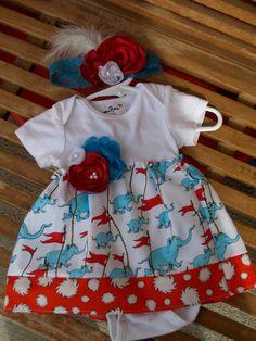 Super Cute Dr. Seuss Dress. Custom made and one of a kind!