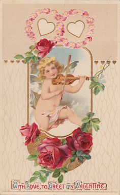 Wings of Whimsy: Cherub Love Messages - free for personal use #vintage #edwardian #victorian