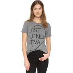 Chaser Besties 4Eva #2 Tee ($62) ❤ liked on Polyvore featuring tops, t-shirts, grey, crew-neck tee, jersey tee, chaser t shirts, grey tee and grey crew neck t shirt