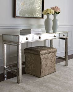 I'm on the hunt for the perfect mirrored piece for our formal dining room. This is on the top of the list!