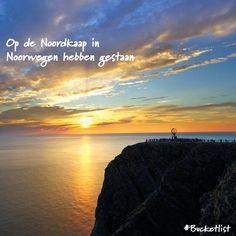 Bucketlist item van - Jan: De #Noordkaap is het meest noordelijke punt van #Noorwegen. De omgeving is spannend, mystiek en schitterend! Zo zijn er twee belangrijke natuurverschijnselen te bewonderen: de #middernachtzon in de zomer en het #noorderlicht in de winter.