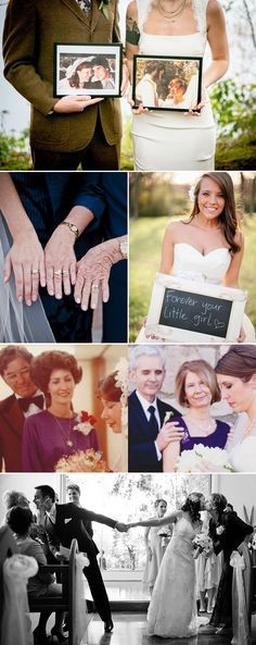 38 Creative Ways to Honor Your Parents at Your Wedding - Creative Photography Ideas