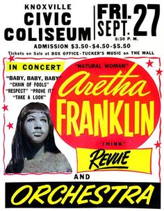 Aretha Franklin Nostalgic Rock and Roll Music x Concert Poster Jazz Poster, Poster On, Print Poster, Rock Posters, Band Posters, Theatre Posters, Event Posters, Vintage Concert Posters, Vintage Posters