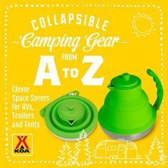 Collapsible camping gear - so cool, you have to check these out! #campkoa #sponsored