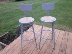 Set of 2 Industrial Style Metal Bar Stools with Backs National Public Seating | eBay & Handmade Wooden Chairs | Custom Wood Stools | Vermont Farm Table ... islam-shia.org