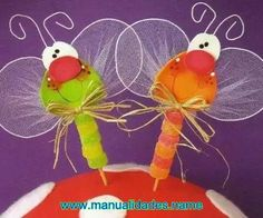 Libelulas caramelos alambre dulce