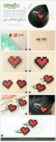 Heart perler beads