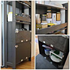 IKEA Laiva Bookcase Hack. Used For Kitchen Organizing