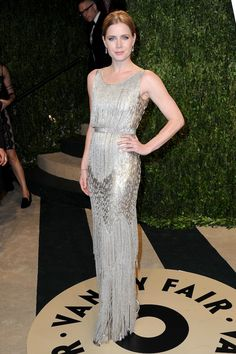 I actually preferred this dress to her red carpet ball gown... Amy Adams in Oscar de la Renta (whom she also wore to walk the red carpet). Vanity Fair Oscar Party 2013 Red Carpet PHOTOS   Styleite