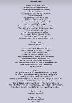 twenty one pilots lyrics kitchen sink - Google Search   I-/ Twenty ...