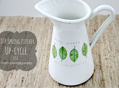 Upcycled Spring Water Pitcher