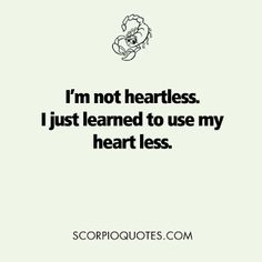 I'm not heartless...