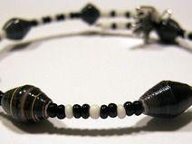 Spiralarmband schwarz-weiß