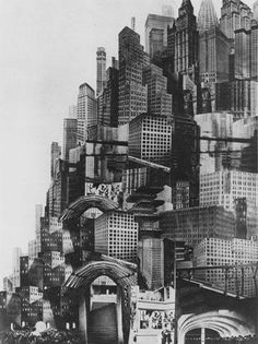 "CIVIC ARCHITECTURE - hive mentality ""Metropolis"" Fritz Lang best example of what I think the pats saw the future as is this movie which in some cases I be leave is a acuray discription Metropolis Fritz Lang, Metropolis 1927, Future City, Photomontage, Utopia Dystopia, Silent Film, Retro Futurism, Art Plastique, Concept Art"
