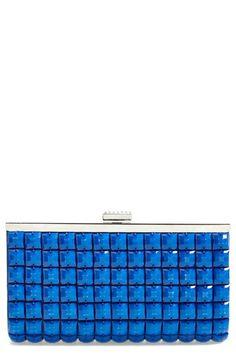 Women's La Regale 'Candy' Crystal Clutch - Blue