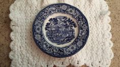 Vintage Blue & White Liberty Blue Saucer Plate Made In England