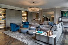 Apartamento Luxuoso em Cores Neutras-sala de estar