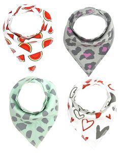 Amazon.com: Baby Bandana Drool Bibs, Unisex 4-Pack Gift Set for Drooling and Teething, 100% Organic Cotton, Soft and Absorbent, Hypoallergenic - for Boys and Girls (05): Clothing