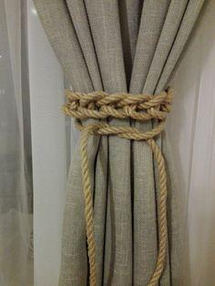 Curtain Tie Back 2 pcs Nursery Curtain Gypsy Décor by WOODlikeWOOD