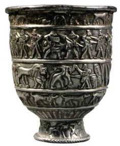 21 th century BC , Karashamb (average flow of the river Hrazdan ) , extracted from a large mound , silver.