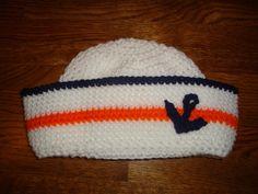 Custom Crochet Sailor hat / Beanie Nautical Birthday by Jailey Bugs