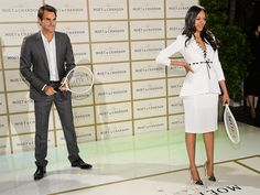 Star Tracks: Monday, March 9, 2015   CAUSING A RACQUET   Roger Federer and Zoë Saldana hold court at Saturday's Moët & Chandon party honoring the tennis pro in Los Angeles.