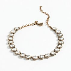 crystal necklace - wear alone or layer with pearls