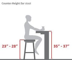 Counter Height Bar Stool Diagram