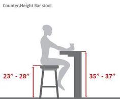 Counter Height Bar Stool Diagram
