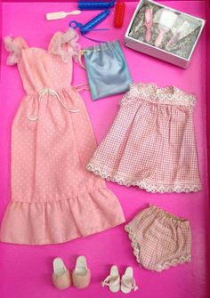 Vintage Sindy doll Nightdresses And Accessories