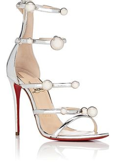 Christian Louboutin Atonana Specchio Leather Sandals - Heels - 505410153