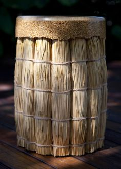 Taiwanese stool made ​​from rice, grain and straw