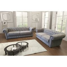 Wonderful looking Chesterfield-style sofa set, made of high quality and durable fabric. Comes in variety of modern colours, which will surely make Your living-room look chic! Living Room Decor Cozy, Living Room Sofa, Living Room Furniture, Sofa Furniture, Living Rooms, Chesterfield Corner Sofa, Sectional Sofa, Couches, Sofa Bed 2 Seater