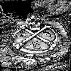 Satanic lucifer skulls occult