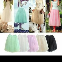 """Pink tulle skirt Tulle skirt elastic waist band never wear nwot waist 10-17"""" lenght 27"""" 5 layers can fit frm xs-m Skirts"""