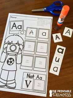 Letter sort. Perfect for students who need extra support with letter recognition.