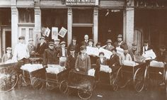 Marietta newsboys ready to hit the streets with the latest editions. 1900.