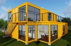 Modular Prefab/Prefabricated Movable Container House for Two Floor Apartment., Find Details about Container House, Modular House from Modular Prefab/Prefabricated Movable Container House for Two Floor Apartment. - Jiangxi HK Prefab Building Co. Container Office, Cargo Container Homes, Building A Container Home, Container Cabin, Container Buildings, Container Architecture, Container House Plans, Shipping Container Homes, Shipping Containers