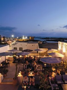 At Taros Cafe Restaurant, Morocco, visitors can sit on an alluring, airy roof terrace and be amazed by incredible views of the sea. Learn more about Morocco and it's beauty with theculturetrip.com