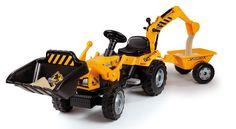 Traktor na pedala Smoby Max  Traktor na pedala izdelan iz izredno kakovostne plastike, v črno rumeni barvi. Primeren za otroke od 3+.