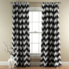 Chevron Blackout Curtain Panel Reviews ($40) ❤ liked on Polyvore featuring home, home decor, window treatments, curtains, chevron pattern curtains, chevron blackout curtains, zig zag curtains, black out curtain panels and blackout drapery