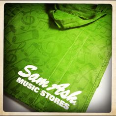 Going green with green, reusable bag from one of our favorite stores....