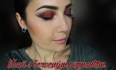 Červené líčení očí s pigmentem od Essence | ILoveMakeUp