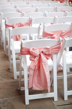 The Vault: Curated & Refined Wedding Inspiration - Style Me Pretty Chair Bows, Chair Sashes, Chair Fabric, Wedding Linens, Wedding Chairs, Leather Wingback Chair, Wedding Renewal Vows, Wedding Ceremony, Adirondack Chair Plans Free
